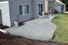 Exposed Aggregate Patio Pictures by Hawks Prairie Concrete Patio Extension Ajb Landscaping U0026 Fence