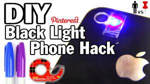 what can a black light detect diy black light phone hack man vs pin 32 youtube
