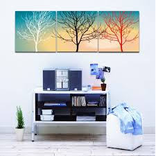 painting room colors promotion shop for promotional painting room 3 colors white black red of branch picture canvas printed modern for home living room office wall decoration painting