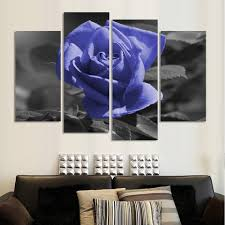 popular large canvas art cheap buy cheap large canvas art cheap free shipping modern flower painting rose oil set 4 piece large canvas art cheap wall pictures