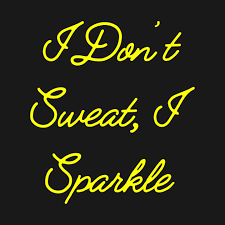 i dont sweat i sparkle i don t sweat i sparkle unbreakable kimmy schmidt crewneck