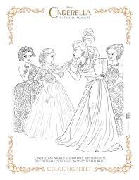 2015 coloring pages disneys cinderella coloring pages