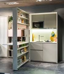 Design Kitchen For Small Space Mini Kitchen Fits Studio Or In Law Unit In Tiny Spaces