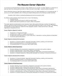 What To Title A Resume Objective In A Resume Lukex Co