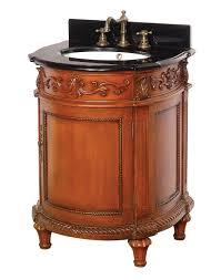 antique oak petite round victorian vanity dreamline dlvbj 015 ao
