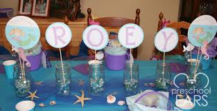 mermaid birthday party preschoolears blog