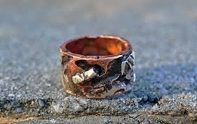copper engagement ring s custom copper 9 25mm tree bark ring distressed woodgrain