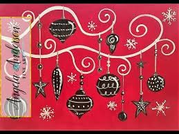 whimsical ornaments acrylic painting tutorial for