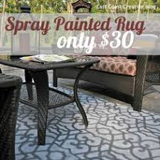 Painting An Outdoor Rug Paint A Rug The Finale Crafty Craft And Paint Rug