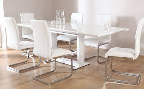 Tokyo White High Gloss Extending Dining Table And  Chairs Set - White dining room tables and chairs