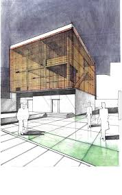 sculptor u0027s house studio freehand architectural drawing arch