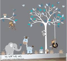 Wall Decals For Nursery Boy Baby Boy Wall Decal Nursery White Tree By Littlebirdwalldecals