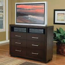 Bedroom Tv Dresser Media Chest In Cappuccino Finish By Coaster 200716