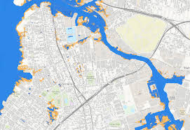 Queens College Map Nyc Sea Level Map State Adopts Official Climate Change