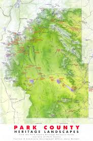 A Map Of Colorado by Park County Heritage Map Park County Colorado U2022 Mappery