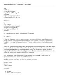 administrative coordinator cover letter cv resume ideas
