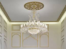 Plaster Chandelier by Bohemian Crystal Chandeliers Luminaires And Lamps