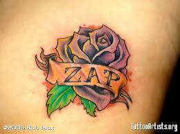 banner with purple rose tattoos tattooshunter com