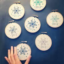 miniature rhino snowflake embroidery pattern natale