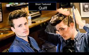 mens haircut u0026 hairstyle short textured quiff hair tutorial