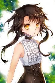 Cute Anime Hairstyles Nice 01 Sita Vilosa Anime Gold Eyes Golden Eyes Black Hair