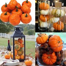 aliexpress com buy 16pc mini foam pumpkin for thanksgiving fall
