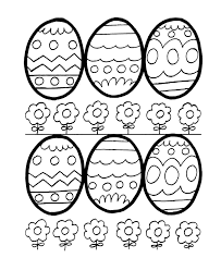 easter egg coloring pages bluebonkers easy easter egg outlines