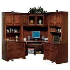 Wood Corner Desk With Hutch Fairfax Home Collections Belcourt Corner Desk With Hutch Desks