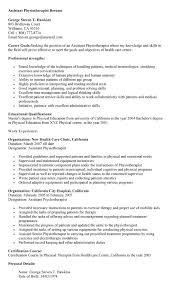 Resume Format For Physiotherapist Job by Sample Ot Resume Resume Cv Cover Letter Back To Post Sample