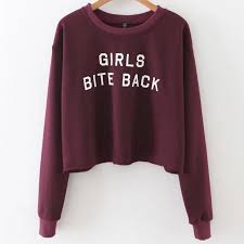 maroon sweater bite back cropped sweater maroon megoosta fashion free