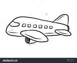 hand drawn black plane clipart collection