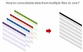 how to consolidate data from multiple excel sheets in to one file