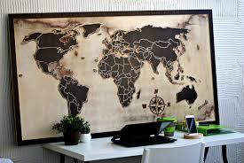 wooden world map day3dream