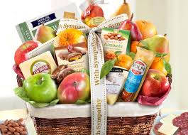 sympathy gift baskets free shipping fruit basket gifts and monthly fruit clubs by a gift inside
