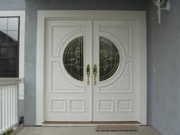 decorating delightful black house entrance door with silver handle