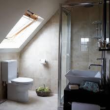 attic en suite bathroom attic skylight and sloped ceiling