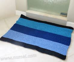 Blue Bath Mat Free Knitting Pattern Walker Bath Mat Rug