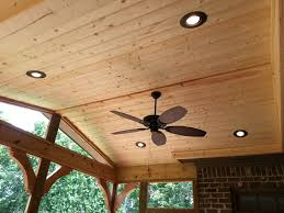 finished ceiling with ceiling fan and can lights design ideas