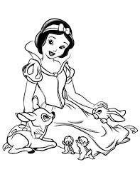 snow white talking jungle friends coloring color luna