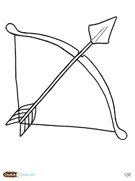 bow and arrow coloring pages lag baomer bow and arrow throughout