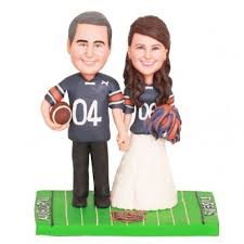 football wedding cake toppers auburn tigers football wedding cake toppers and groom