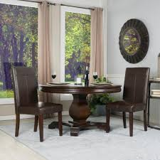 simpli home avalon tanners brown faux leather parsons dining chair
