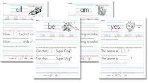 free worksheets kindergarten primer sight word sentences free