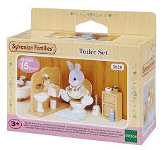 Sylvanian Families Toilet Set Purple Turtle Toys - Sylvanian families luxury living room set