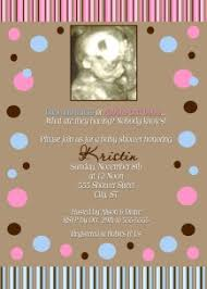 unisex baby shower unisex brown blue pink polka dot baby shower invitation