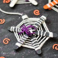 craft stick spiderwebs halloween craft typically simple