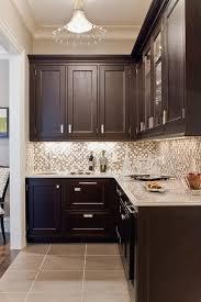 Brushed Nickel Backsplash by Glass Tile Backsplash Contemporary Kitchen Venegas And Company