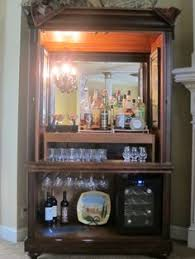 Bar Hutch Converted Armoire To Bar Google Search Project Pinterest