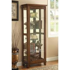 Display Cabinets With Lights Furniture Silver Curio Cabinet Large Curio Cabinet Curio