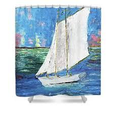 Sailboat Shower Curtains Ken Wood Shower Curtains For Sale